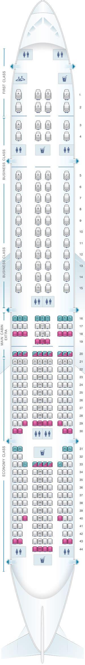 plan siege boeing 777 300er plan de cabine airlines boeing b777 300er