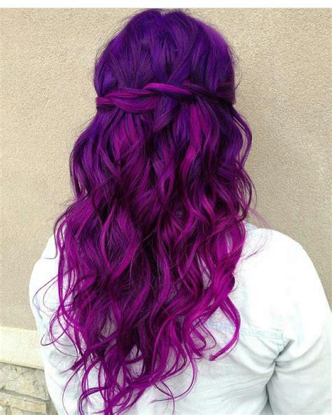 Lovely Purple Dyed Hair Magenta Hair Hair Styles E