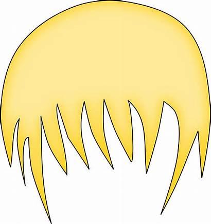 Hair Anime Boy Clipart Blonde Brown Clip