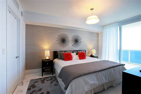 bedroom ideas baroque coral accent pillow technique miami contemporary condo