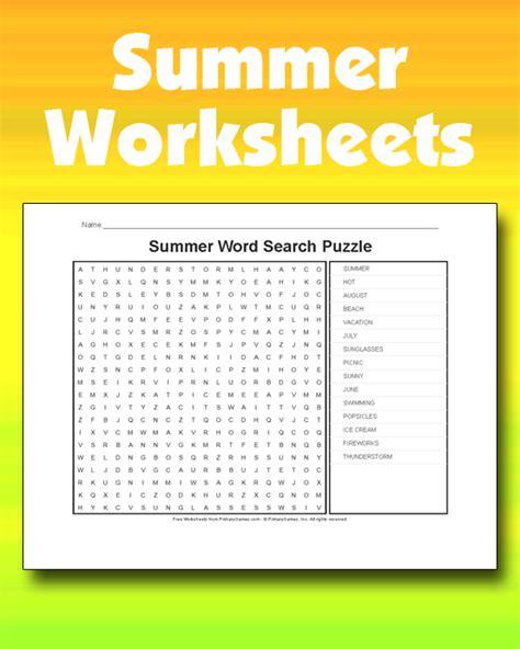 summer worksheets primarygames play   games