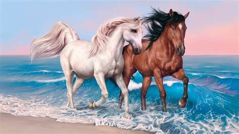 horses art wallpapers hd wallpapers id