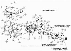Powermate Formerly Coleman Pm0496500 02 Parts Diagram For Generator Parts