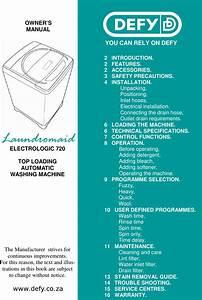 Defy Laundromaid Electrologic 720 Top Loading Automatic