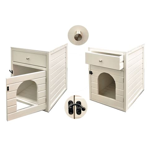 maison de toilette pour chat originale maison de toilette chat canasta 58 x 45 x 60 cm blanc 2502 achat vente niches chat sur