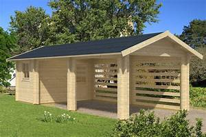 Terrasse Günstig Bauen : holz carport bausatz skanholz stockholm mit ~ Michelbontemps.com Haus und Dekorationen