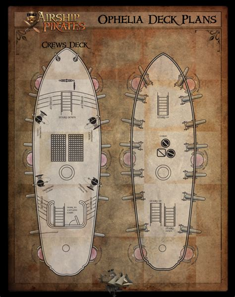 printable deck plans autographed airship rpg softcover