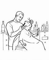 Barber Coloring Colouring sketch template