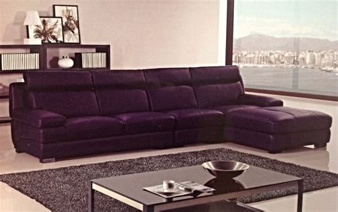 Purple Contemporary Sofa by Modern Contemporary Purple Leather Sectional