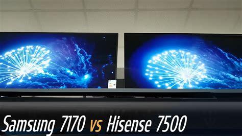 Samsung RU7170 vs Hisense B7500 Smart TV YouTube