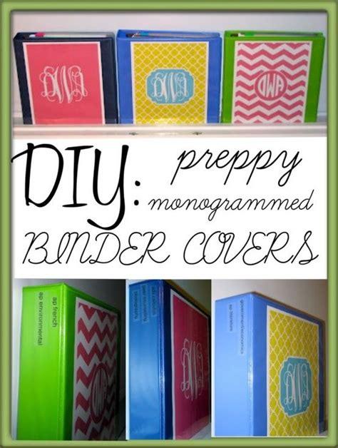 berta template free editable binder covers diy preppy monogrammed