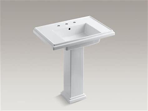 kohler k 2845 8 tresham 30 inch pedestal sink with 8