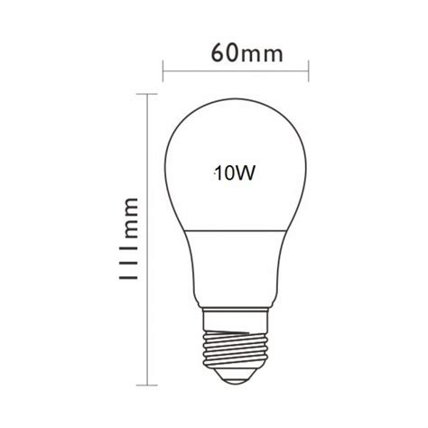 lada e27 10w 230v e27 normal 830 eco led