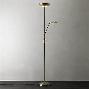 Buy john lewis zella uplighter floor lamp john lewis for John lewis zella floor lamp antique brass