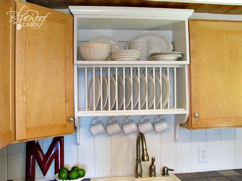 remodelaholic upgrade cabinets  building  custom plate rack shelf