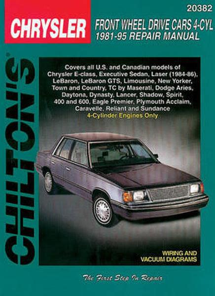 chilton car manuals free download 1996 chevrolet s10 navigation system chrysler front wheel drive 4 cylinder cars chilton manual 1981 1995 hay20382
