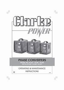 Phase Converters Operating  U0026 Maintenance Instructions