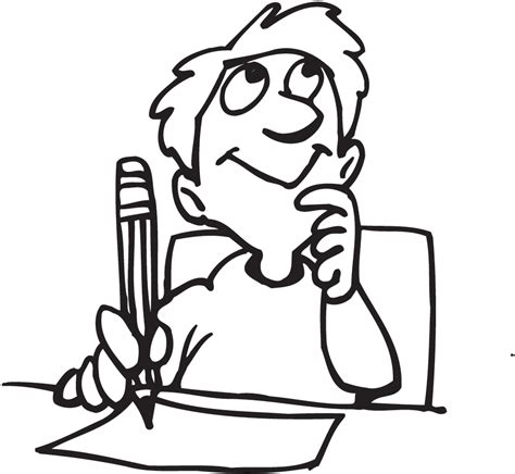 14806 student thinking clipart black and white el escritor 9a vocab writing services