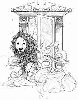 Narnia Wardrobe Sketch Witch Lion Chronicles Drawing Tolkien Paravel Cair Tattoo Aslan Lucy Coloring Colouring Lions Wardrobes Via Ak0 Articulo sketch template