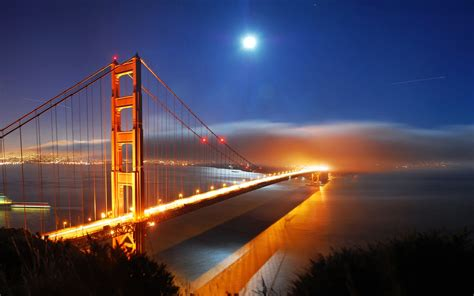 san francisco bridge night lights wallpapers hd