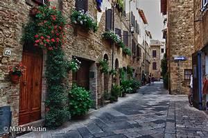 Calles medievales del s XXI Pienza Toscana (Italia) Flickr