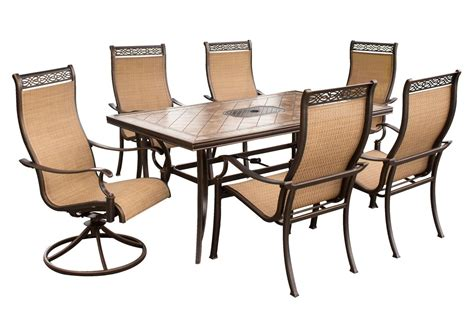 hanover monaco 7pc dining patio set monaco7pcsw su
