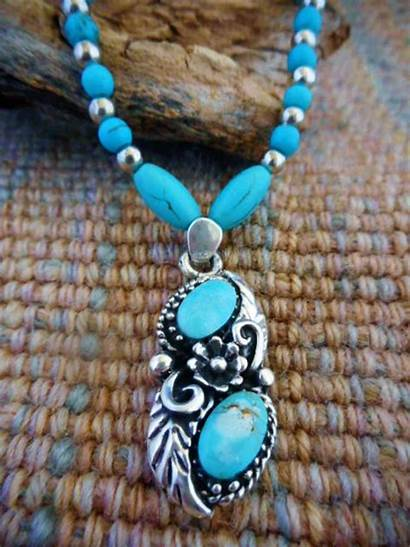 Turquoise Pendant Necklace Silver Sterling Necklaces