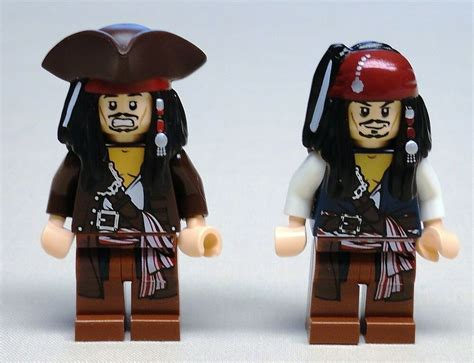 X2 New Lego Jack Sparrow Minifigs Pirates Of The Caribbean
