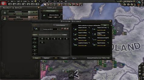 hoi4 division template hearts of iron 4 german motorized division historical template 1942