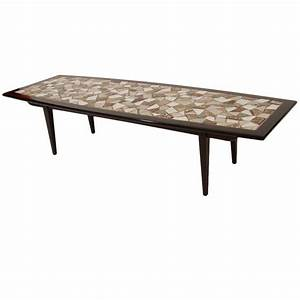mosaic tile top coffee table for sale at 1stdibs With coffee table with tiles
