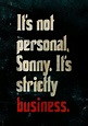 Its Not Personal (With images) | Godfather quotes, Classic ...
