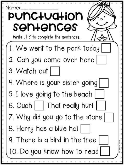 grammar worksheet packet sentences punctuation