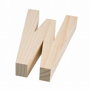 775quot chunky wooden letter w 9190 692w craftoutletcom for Chunky wooden letters