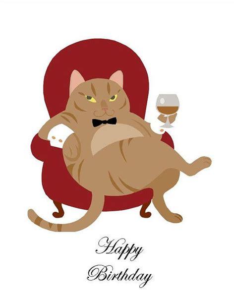 happy birthday  weird cat lover funny snarky