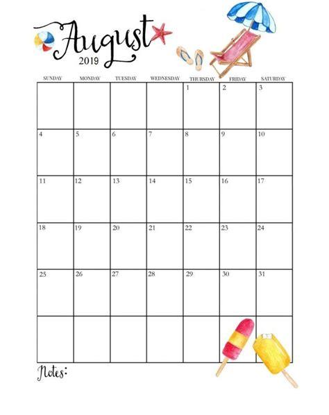 cute august calendar calendar calendar