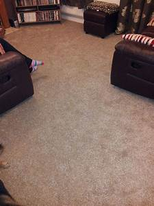Living Room Carpet In Beige Fleck Supplied And Installed