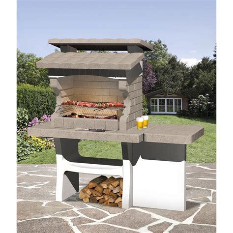 barbecue en b 233 ton beige et gris luxor l 159 x l 72 x h 161 cm leroy merlin