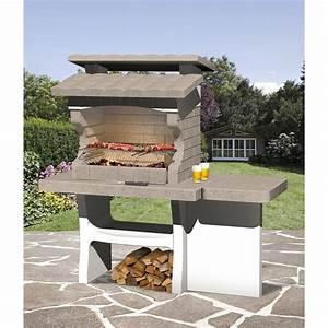 Barbecue En Bton Beige Et Gris Luxor L159 X L72 X H