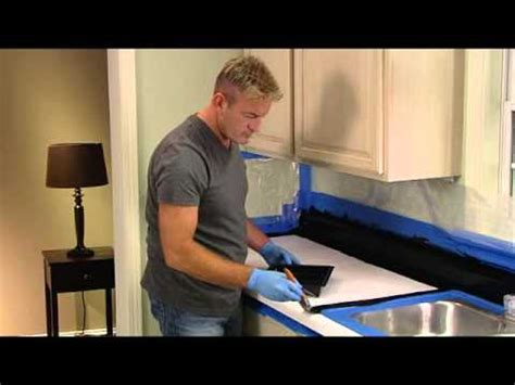 How To Get Rust A Countertop by Rust Oleum Countertop Transformations Application