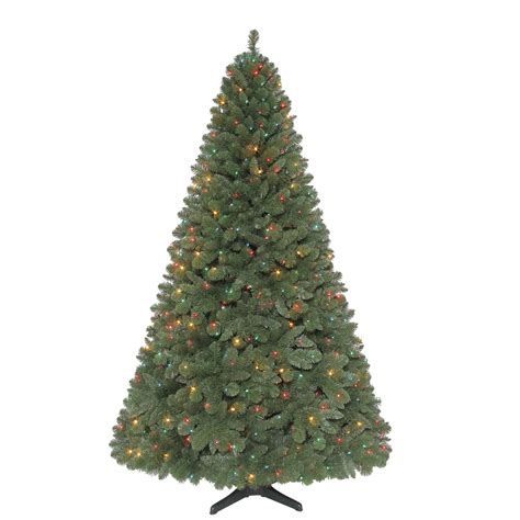 revolving christmas trees with lights jaclyn smith 7 5ft sherwood pine christmas tree with multi