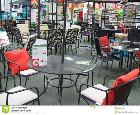 garden furniture in a large store editorial photo image