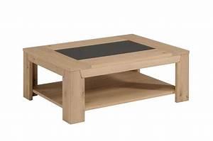 Table Chene Clair : table basse bois clair table en verre de salon objets decoration maison ~ Teatrodelosmanantiales.com Idées de Décoration