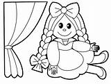 Coloring Doll Toys Toy sketch template