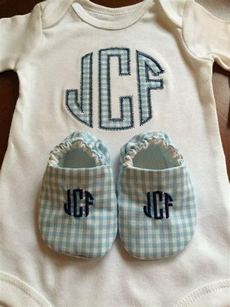 baby boy monogrammed onesie  shoes  zaltique  etsy baby boy monogram boy monogram