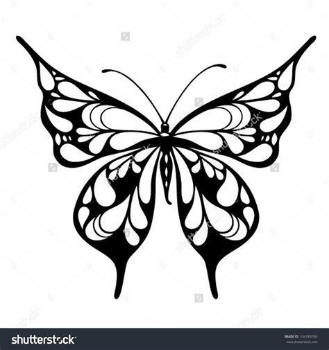 fantasy butterfly tattoo stock vector