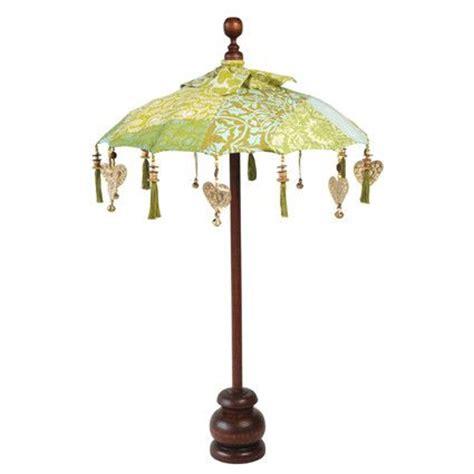 decorative table top balinese umbrella bluegreen
