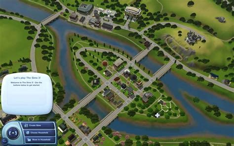 sims  riverview map overview youtube