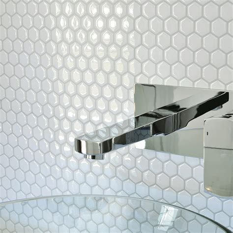 decor tile smart tiles hexago 11 27 in w x 9 64 in h decorative mosaic wall tile backsplash 6 pack