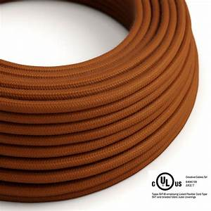 Rust Cotton Covered Round Electric Cable