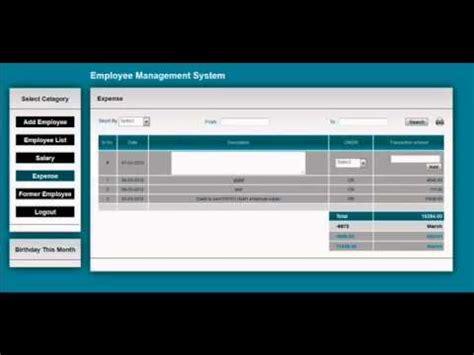 php based employee management system   youtube